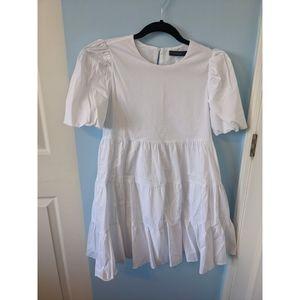 Dynamite Puff Sleeve Tiered Dress